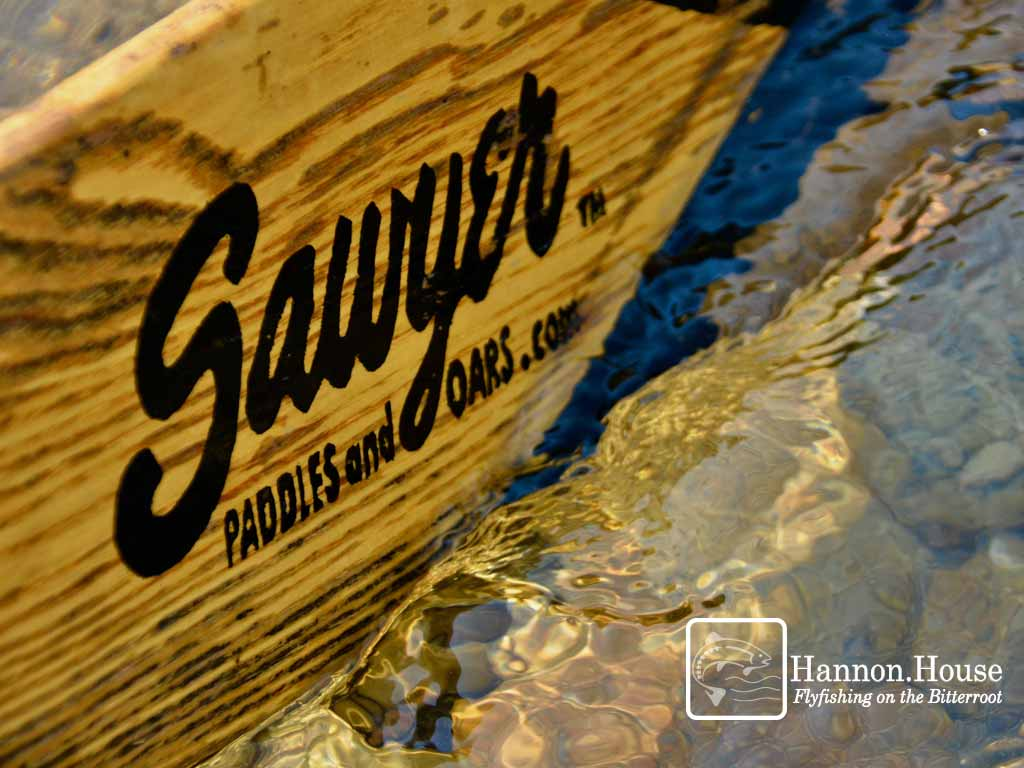 Hannon House flyfishing boat paddle